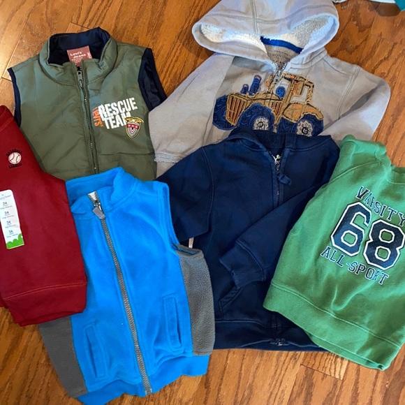 Baby Sweatshirts/Fleeces/Vests 24mths/2T Lot
